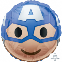 "Captain America Emoji Foil Balloon (18"") 1pc"